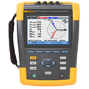 Fluke 437 Series II 400 Hz Basic Power Quality and Energy AnalyzerFluke 437 serie II Analizzatore di rete e del consumo energetico
