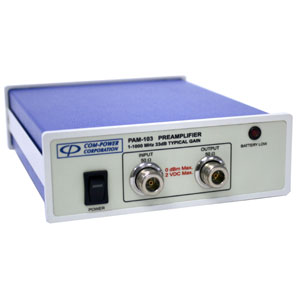 PAM-103 preamplifier for EMI Emissions Testing